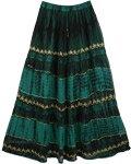Gable Green Georgette Skirt