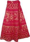 Cardinal Golden Block Print Wrap Skirt