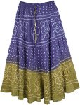 Floral Enchantress Rippling Cotton Long Dance Skirt
