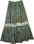 Viridian Green Tie Dye Swamp Skirt
