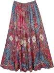 Tapestry Lotus Tie Dye Skirt