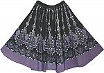 Purple Black Womens Short Skirt w/ Sequins