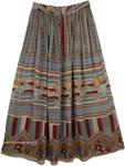 Tan Rayon Ethnic Skirt
