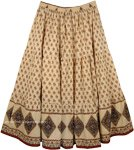 Tan Plus Size Summer Cotton Skirt