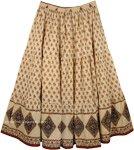 Tan Plus Size Summer Cotton Skirt