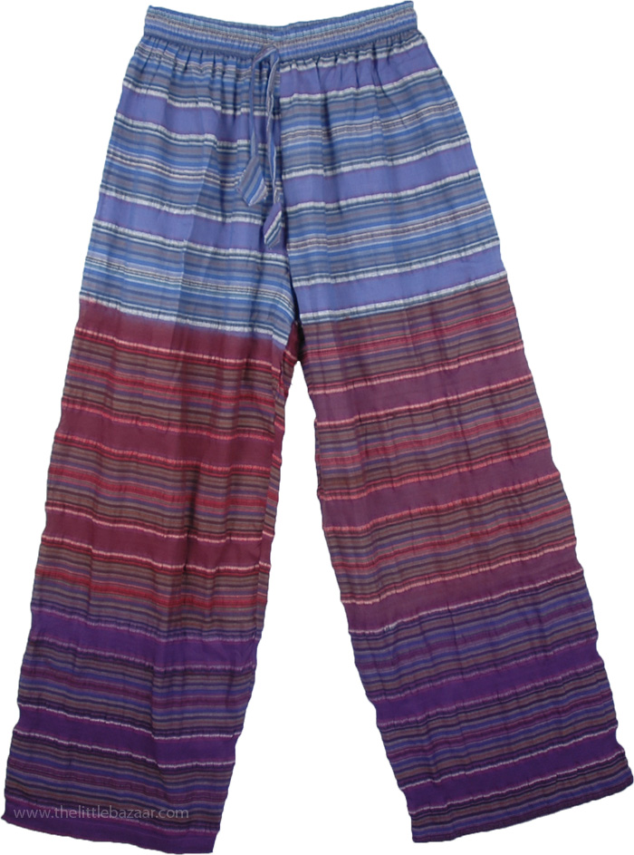 Purple Hues Seersucker Cotton Pajama Pants