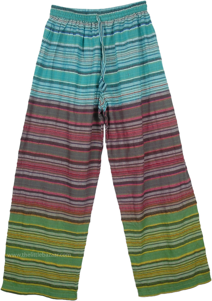 Colorful Seersucker Unisex Pajama Pants