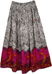 Animal Printed Full Length Summer Skirt
