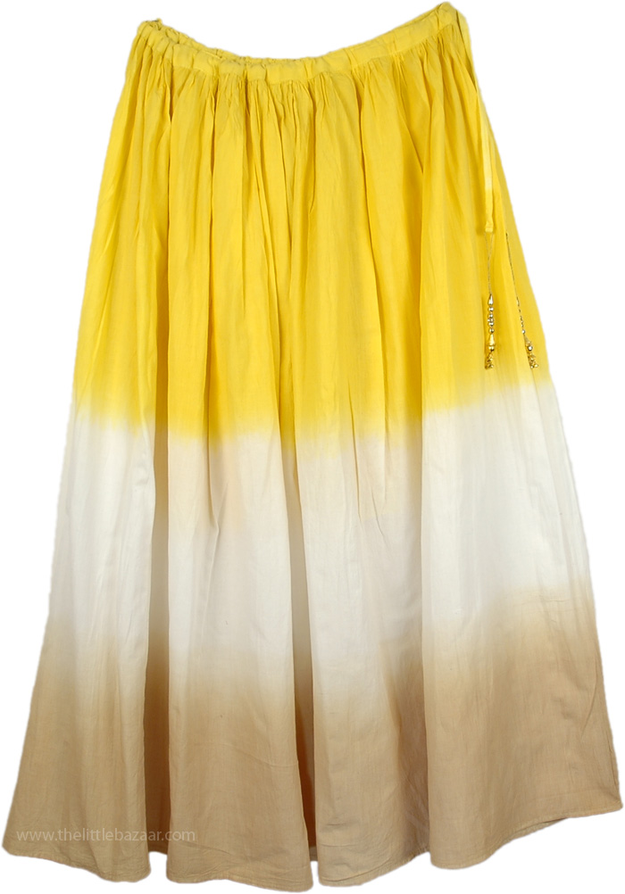Golden Dream Cotton Spring Skirt