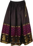 Cocktail Party Gold Paisley Womens Skirt
