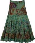 Santa Fe Layered Cotton Skirt