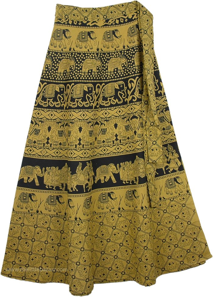 Lemon Ginger Long Wrap Skirt