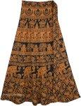 Mai Tai Brown Black Indian Skirt