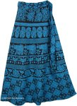 Blue Bayoux Long Tie Around Skirt