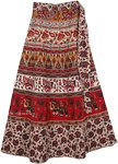 Chilli Pepper Red Wrap Around Skirt