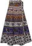 Gigas Blue Tie Around Skirt in Cotton