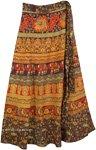 Ferra Royal Block Ethnic Wrap Skirt