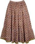 Old Bronze Womens Long Skirt
