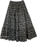 Love in A Mist Floral Cotton Print Long Skirt