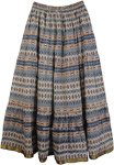 East Bay Blue Cotton Long Summer Skirt