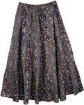 Womens Crinkled Cotton Reversible Skirt