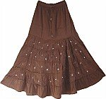 Summer Long Skirt with Sequins