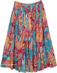 Pacific Island Summer Floral Skirt