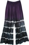 Purple Tie Dye Wide Leg Drawstring Pants