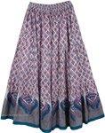Dusty Gray Print Long Skirt