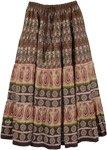 Tribal Printed Long Cotton Skirt