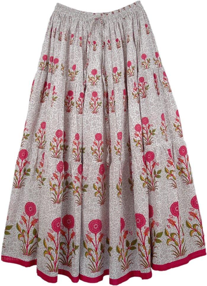 Lovsickle white pink floral long skirt white printed lovsickle white pink floral long skirt mightylinksfo