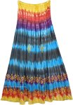 Boho Tie Dyed Hippie Maxi Full Long Skirt Dress