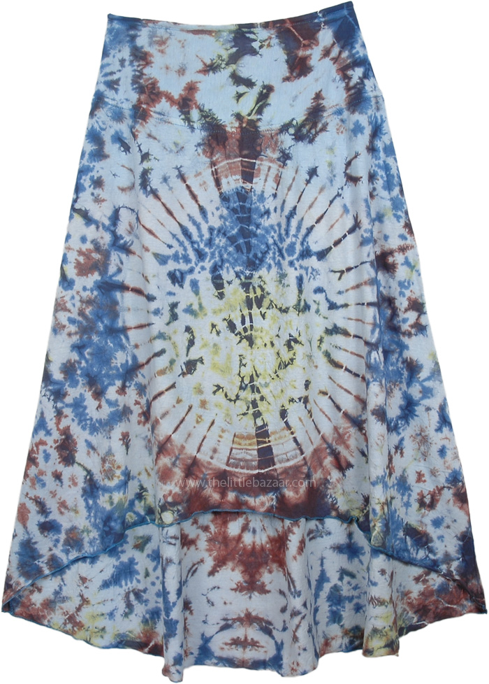 Hi Low Hues Tie Dye Cotton Skirt