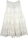 Mystic Bohemian Crochet Skirt in Pure White