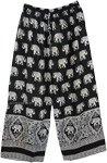 Women Comfy Loose Black Elephant Pants