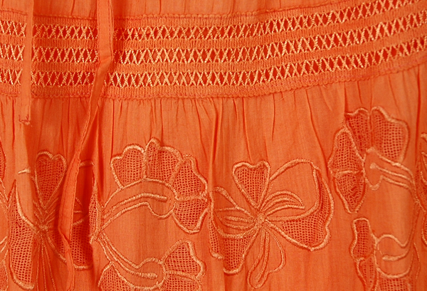 Flamingo Lace and Cotton Long Skirt