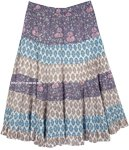Old Lavender Floral Full Skirt