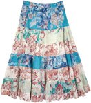 Pearl Hippy Cotton Pastel Floral Skirt