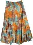 Bohemian Casual Peasant Summer Festival Skirt