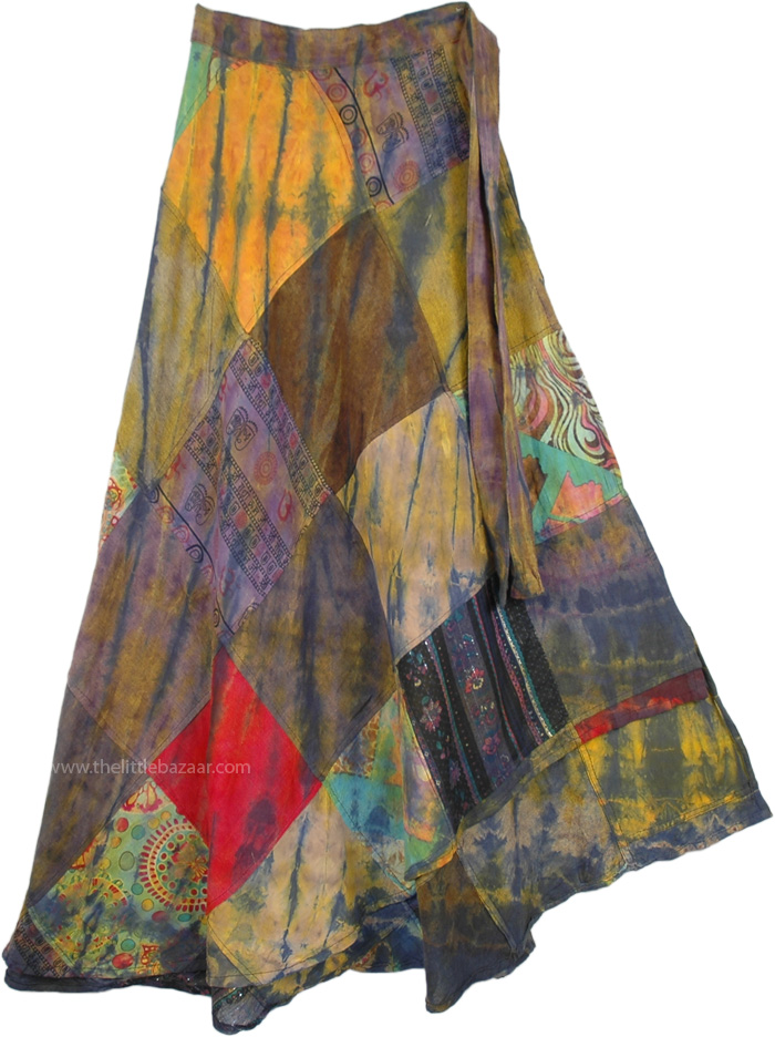 Harvest Gold Patch Wrap Around Skirt