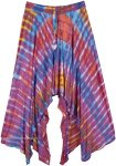 Tie Dye Rainbow Hi Low Hippie Skirt