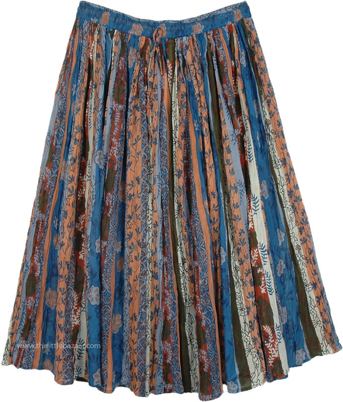 Bismarck Multicolor Floral Printed Skirt
