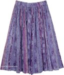 Butterfly Bush Printed Summer Indian Skirt