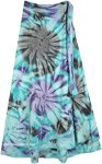 Indian Tie Dye Wrap Long Skirt