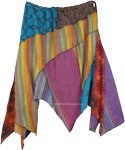 Extra Large Fun Hanky Hem Patchwork Skirt