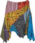 Asymmetrical Patchwork Skirt in Extra Large