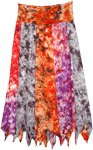 Ashanti Bright Multi Print Long Skirt