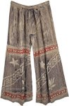 Silver Star Relaxed Tie Dye Wide Leg Pants