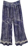 Beach Party Palazzo Pants in Cobalt Blue