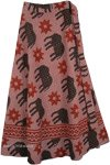 Sunny Elephants Wrap Around Skirt